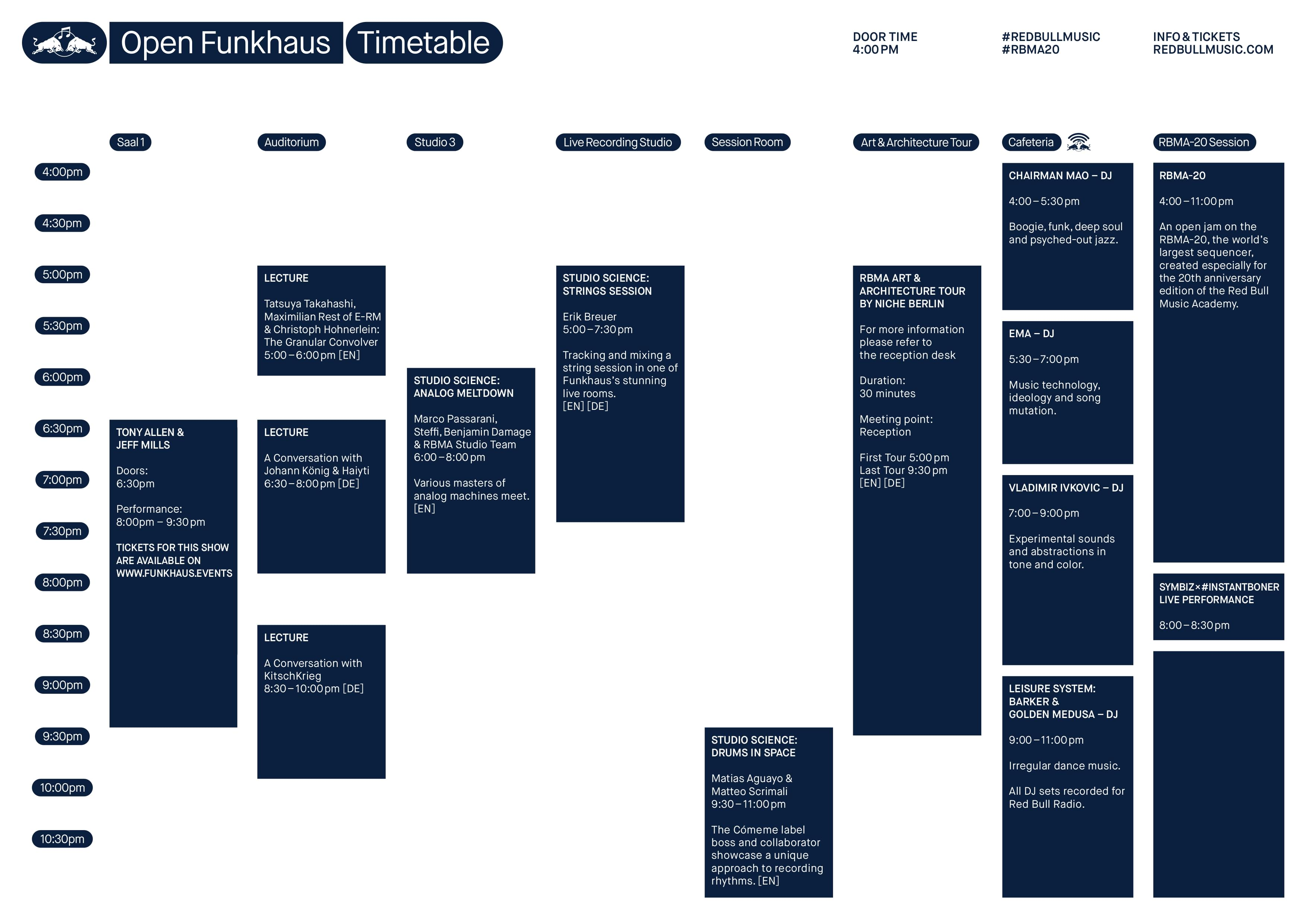 Timetable Open Funkhaus