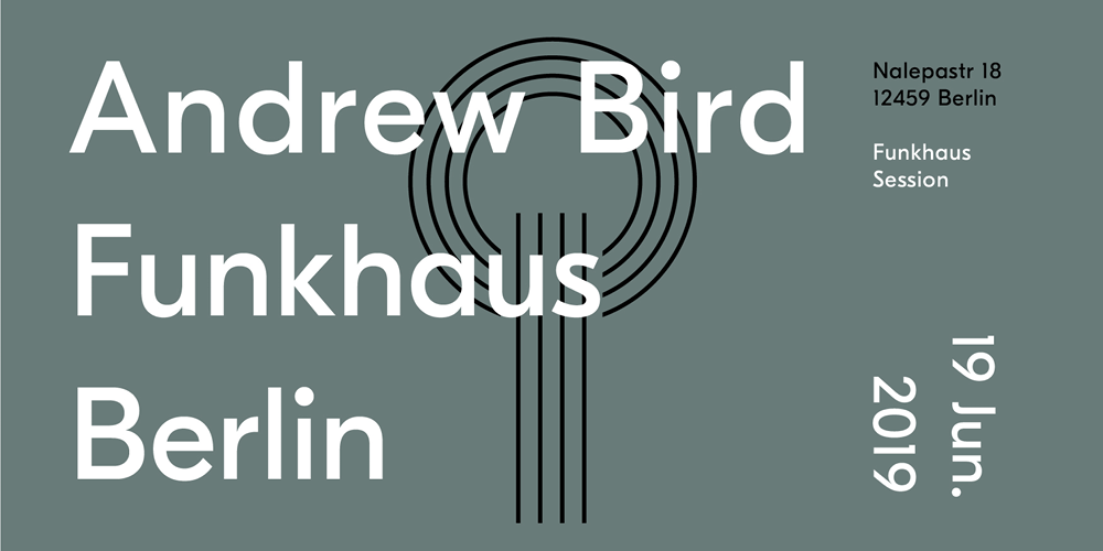 Tickets Andrew Bird, live at Funkhaus in Berlin