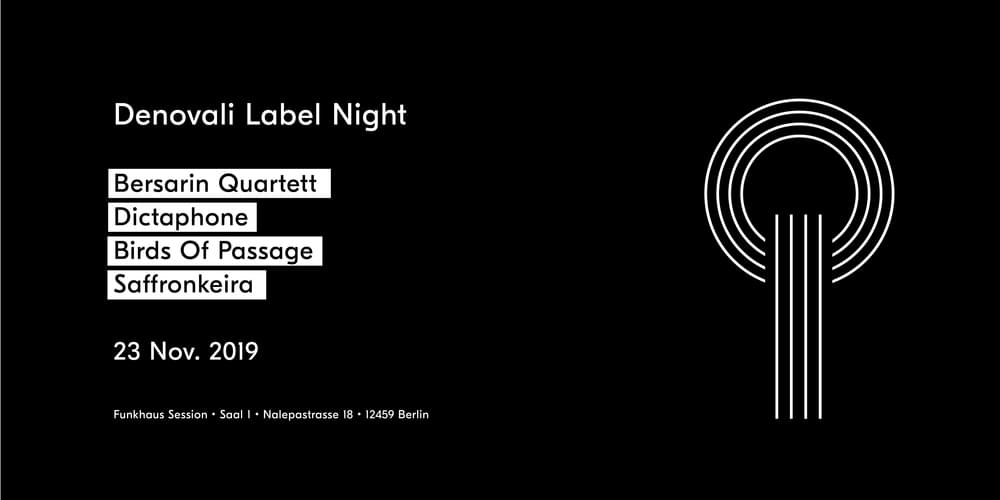 Tickets Denovali Label Night, live at Funkhaus in Berlin