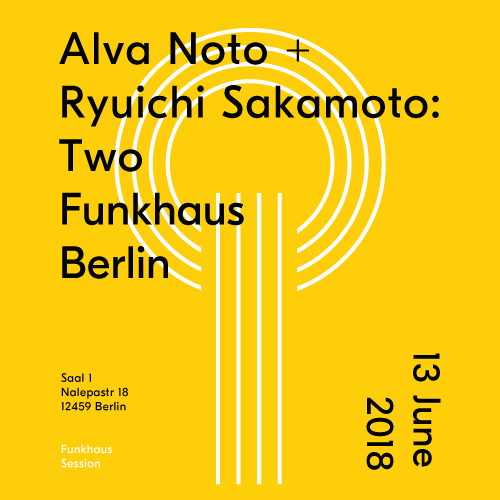 Buy tickets for Alva Noto + Ryuichi Sakamoto: Two at 2018-06-13
